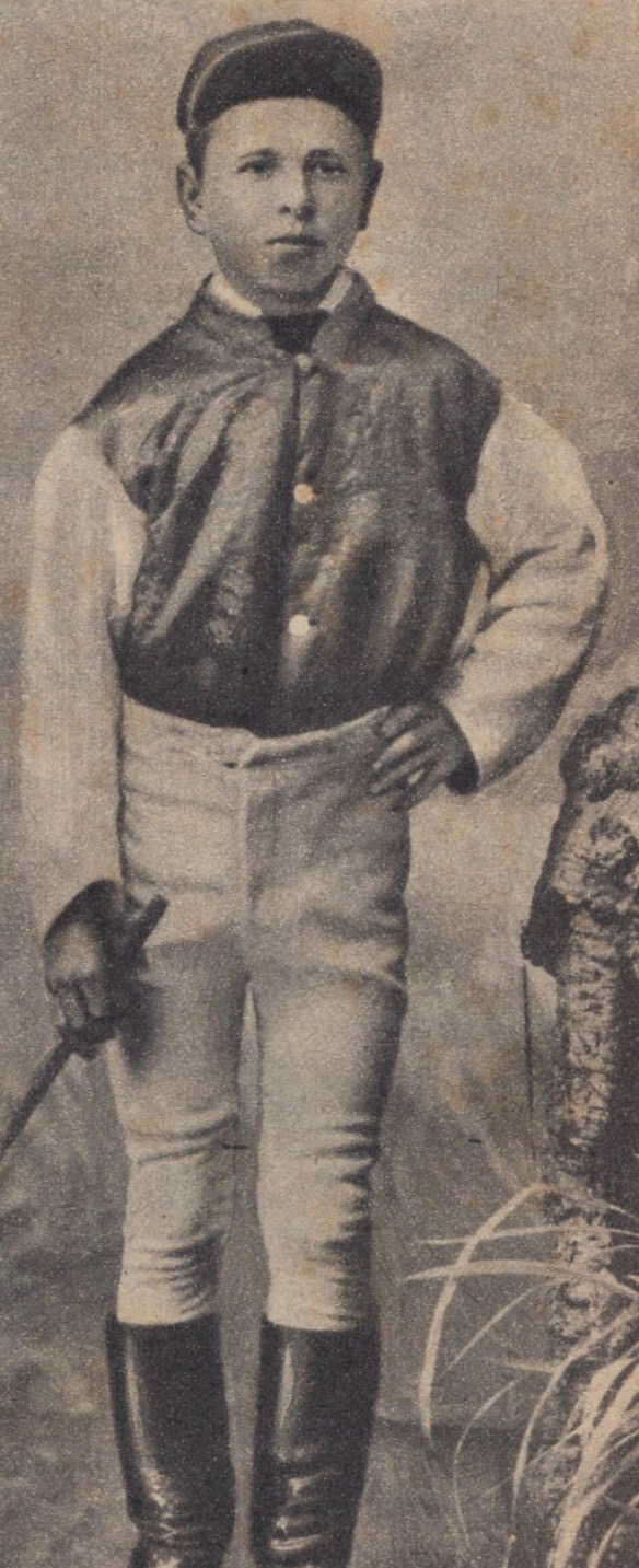 Image courtesy of Barry Collier, Racing Historian - Jockey Bob Lewis at age 14.