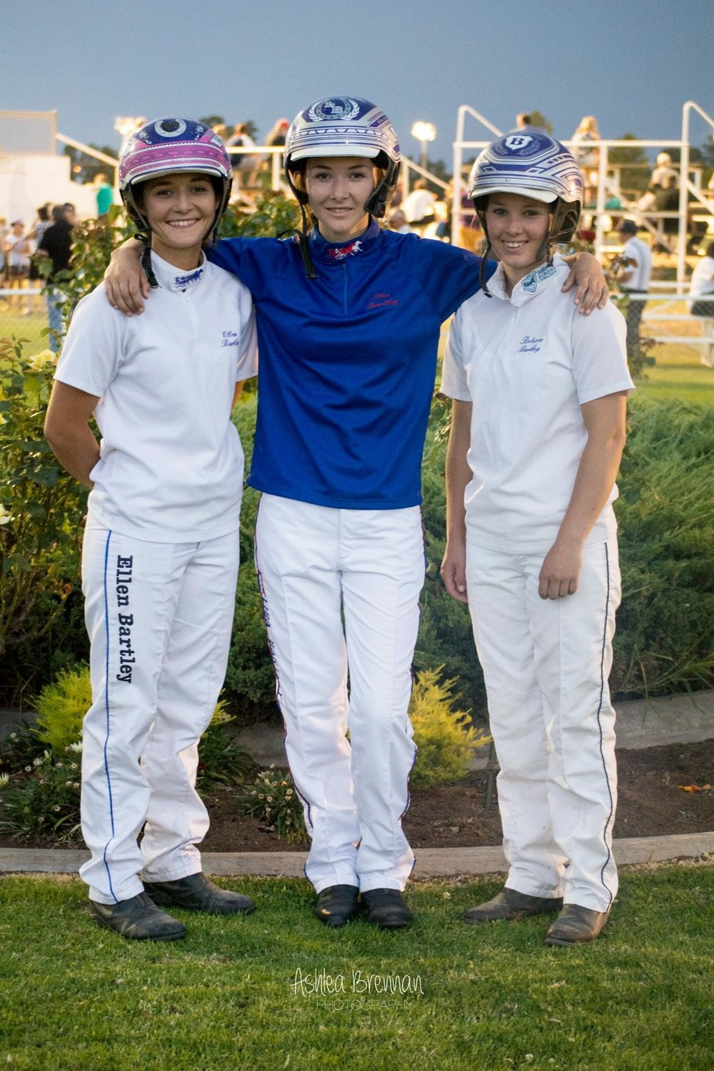 Image courtesy Ashlea Brennan - Rebecca (right) with sisters Ellen(left) and Lisa - all three have made their marks in Harness Racing