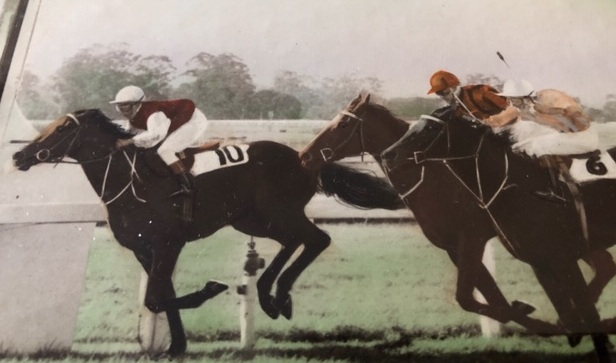Bill's first winning ride in 1967. It's a Saturday meeting at Warwick Farm and he won on Unrecorded trained by Tom Kennedy.