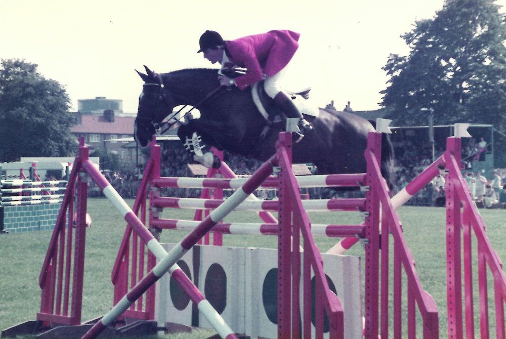 Greg Eurell on Mr. Shrimpton - the horse he rode at the 1984 Olympics.