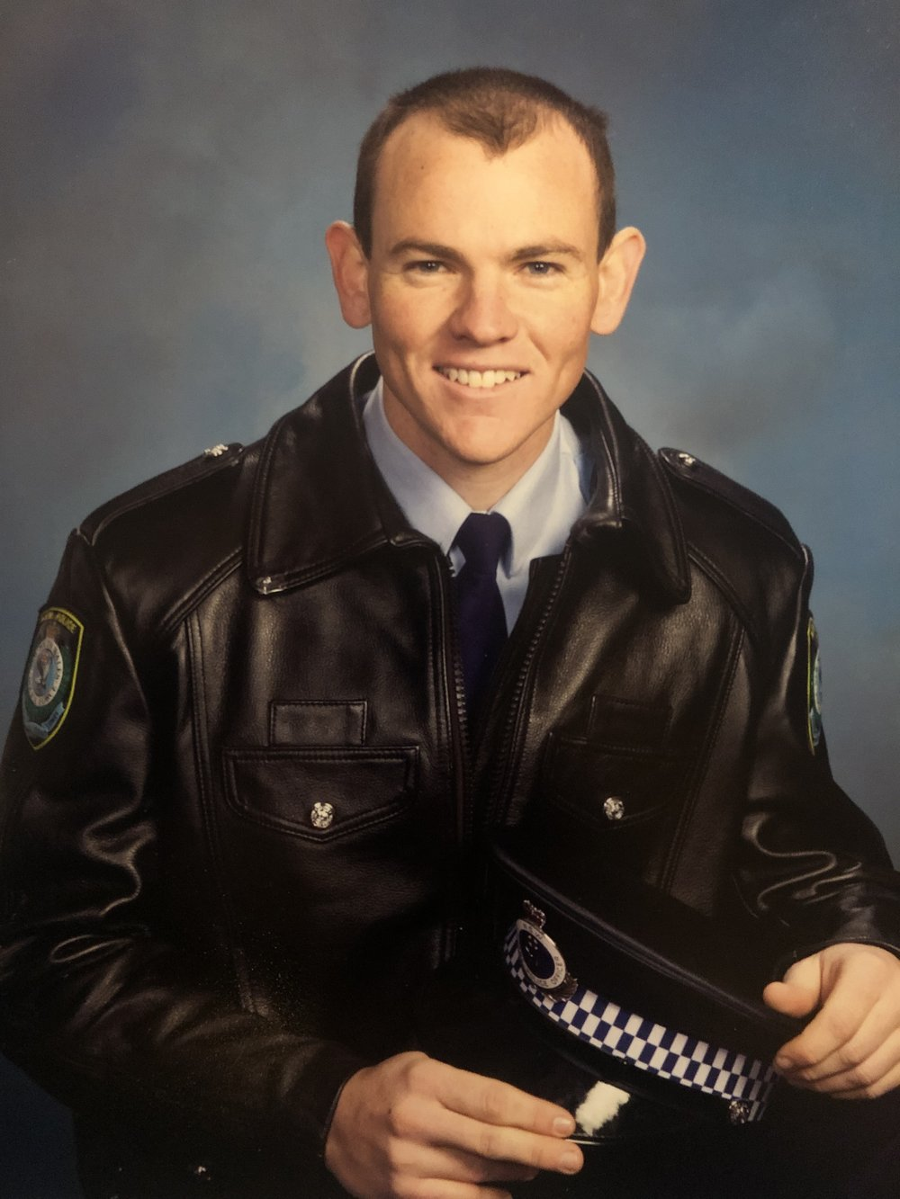 Snr. Constable Conolly at work in his uniformed days.