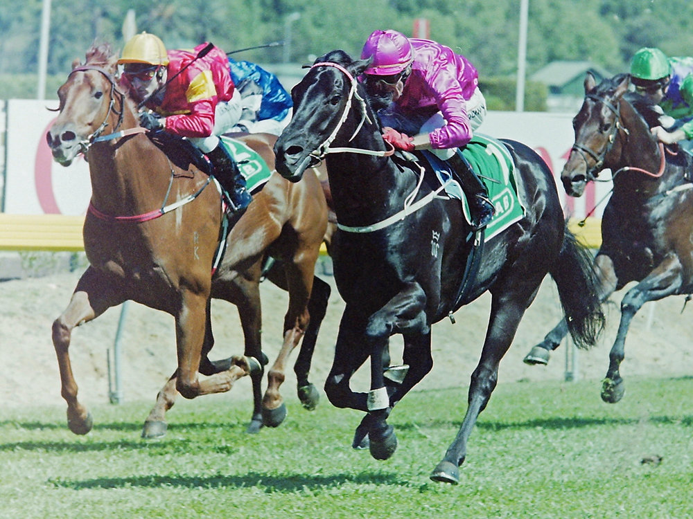 Image courtesy Steve Hart Photographics - Rod Quinn wins on Lonhro - the best horse he ever rode.