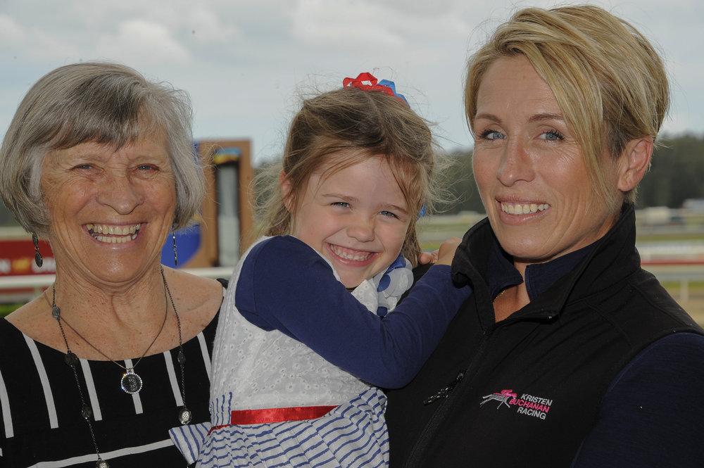Kristen Buchanan with daughter Mackenzie and Mother Lauraine.