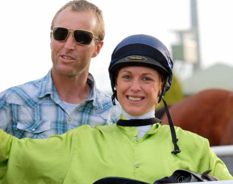 Image courtesy Tasracing - Siggy was all smiles after riding her very first winner Rose of Innocence at Elwick.
