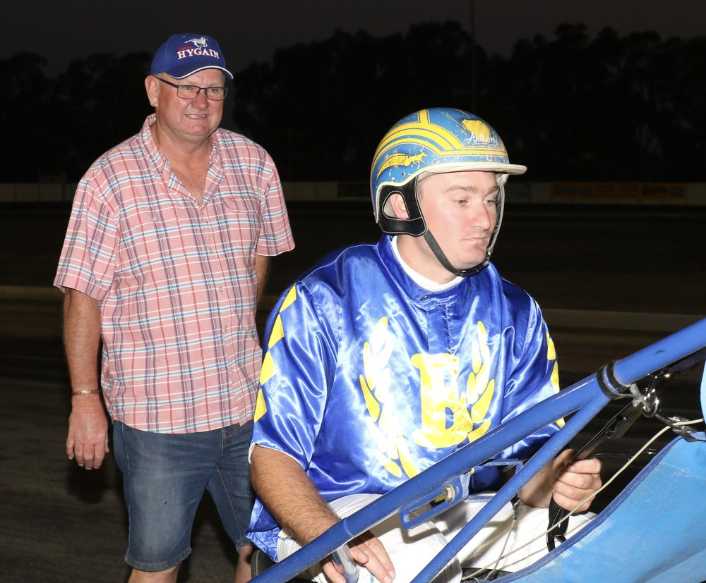 Image courtesy National Trotguide - Chris Frisby looks proud of horse and driver and he's entitled to be.