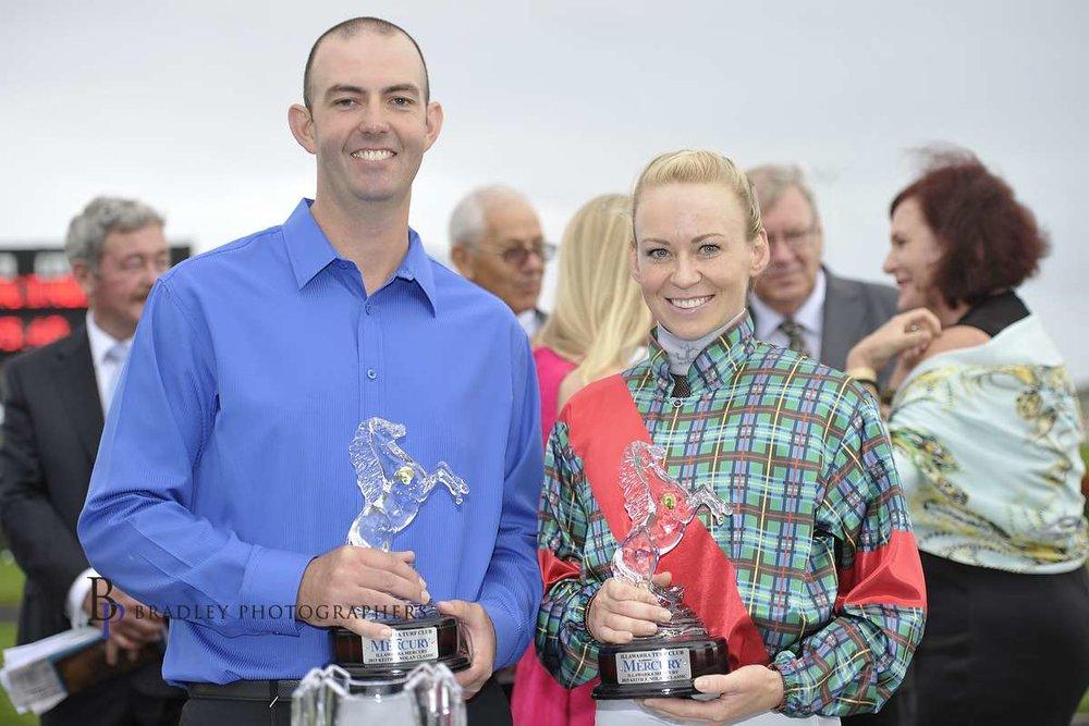 Image courtesy Bradley Photographers - Jason has won many races with Kathy O'Hara.