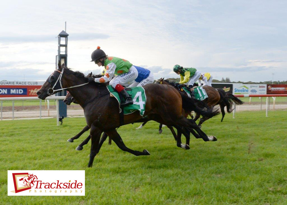 Image courtesy Trackside Photography - Sam wins on Tessa Burrito at her second ride back.