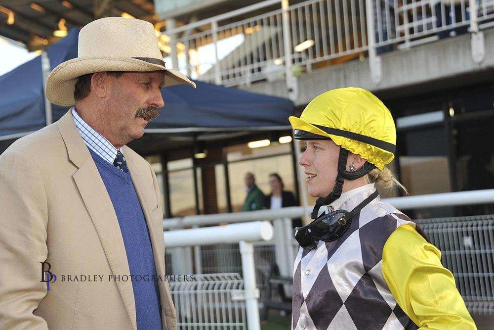Image courtesy Bradley Photographers - Sam with former prominent trainer Greg Bennett.
