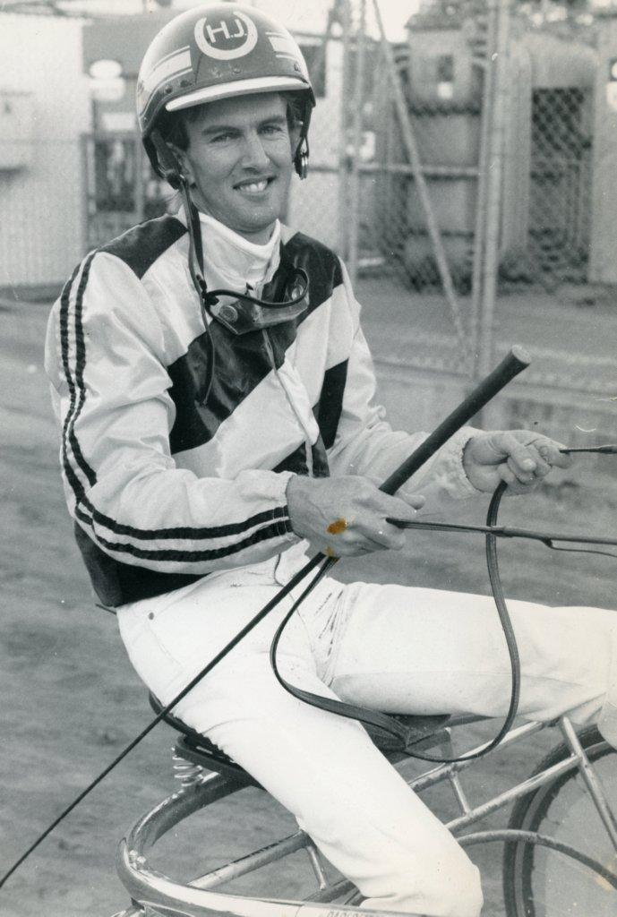 Image courtesy National Trotguide - Howard in his early driving days 1979.