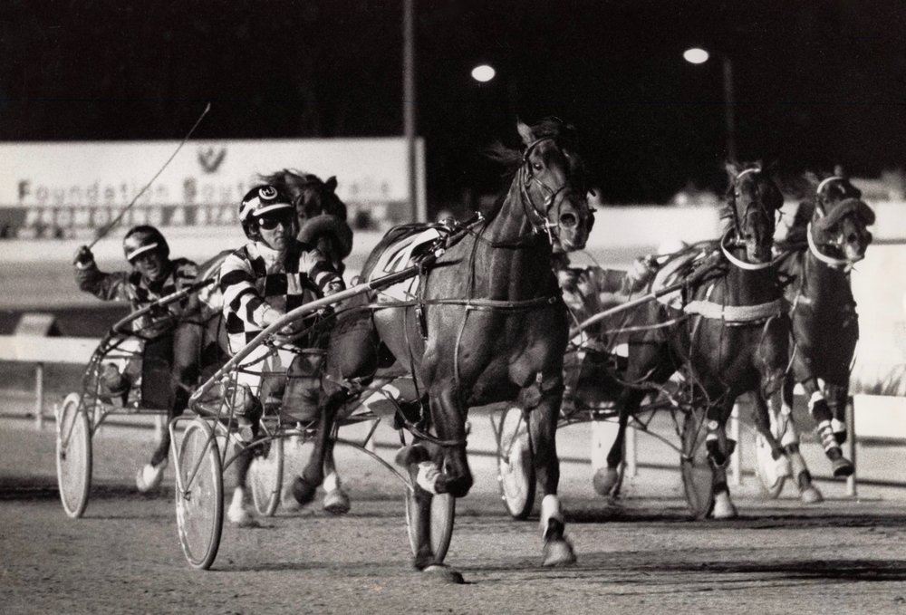 Image courtesy National Trotguide - Howard gets Thorate home Interdominion Grand Final 1990.