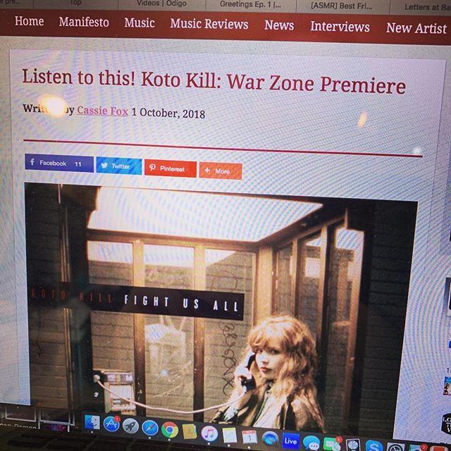 Listen to WAR ZONE over at @louderthanwarofficial featuring @b3ndu @halfvoid @the_actions #newmusic #newmusicmonday #newmusicalart #electrorock #electronicrock #rock #rap #trapmusic #louderthanwar #warzone #kotokill #beats #guitars #premiere