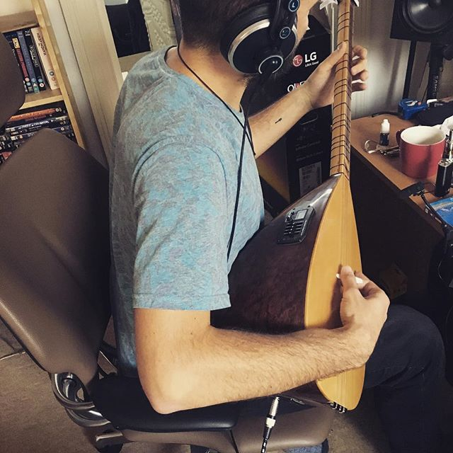 Tolga Cokdeger recording the Turkish Saz for the track Fire Down back in May 2018. #recording #homestudio #dpamicrophones #ProTools #turkishsaz #saz #kotokill #fightusall