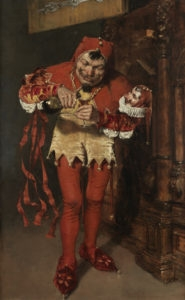 William Merritt Chase (1849-1916) Keying Up – The Court Jester, Oil on Canvas