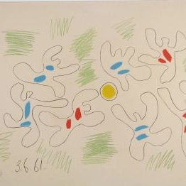 Pablo Picasso Football, lithograph in colors, 1961, appraisal – $10,000