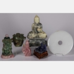 CHINESE CARVED HARDSTONE ITEMS