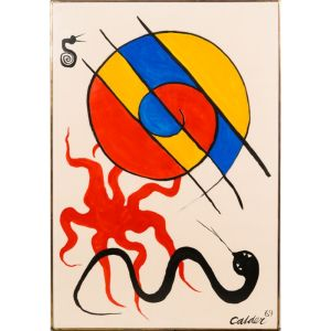 Alexander Calder (1898 - 1976) Sea Creatures, 1969, Sold 78,000