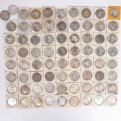73 PRE-1921 MORGAN SILVER DOLLARS