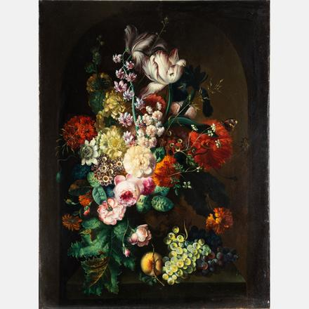 AFTER MARGARETHA HAVERMAN, (C. 1693-1739) - STILL LIFE WITH FLOWERS   After the original located at the Metropolitan Museum of Art.   Estimate: $5,000 - $7,000