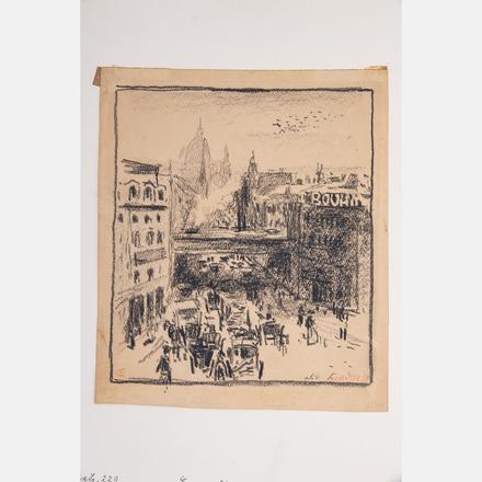 EMIL ORLIK, (CZECH, 1870-1932) - LONDON   Together with the book 'Meister der Zeichnung Herausgegeben von Professor Dr. Hans W. Singer, Siebenter Band: Emil Orlik' (Leipzig: A. Schumann's Verlag, 1912).   Estimate: $300 - $500