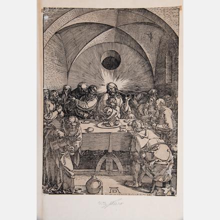 ALBRECHT DÜRER, (GERMAN, 1471-1528) - THE LAST SUPPER FROM THE LARGE PASSION, 1510   Albrecht Dürer, (German, 1471-1528) - The Last Supper from the Large Passion, 1510   Estimate: $1,000 - $2,000     View Lot >