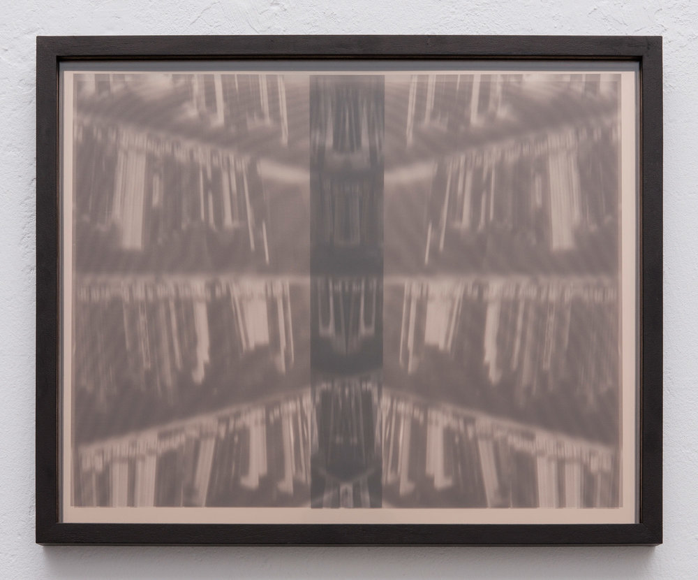 Amir Fattal, Spine, 2010, framed transparancies