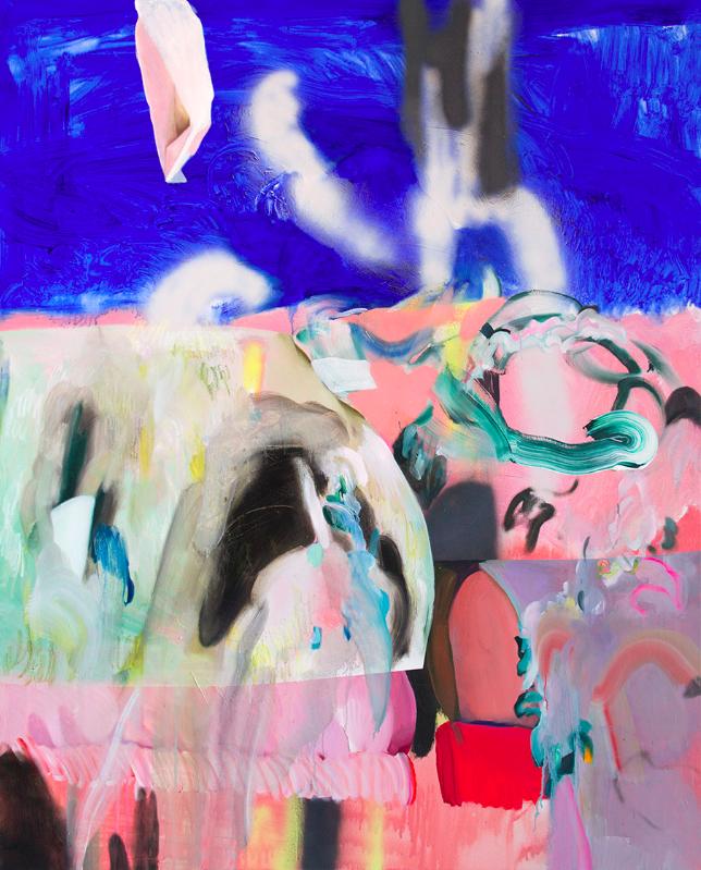Winston Chmielinski,  Hardest Water , 2014, mixed media on canvas, 150x120cm
