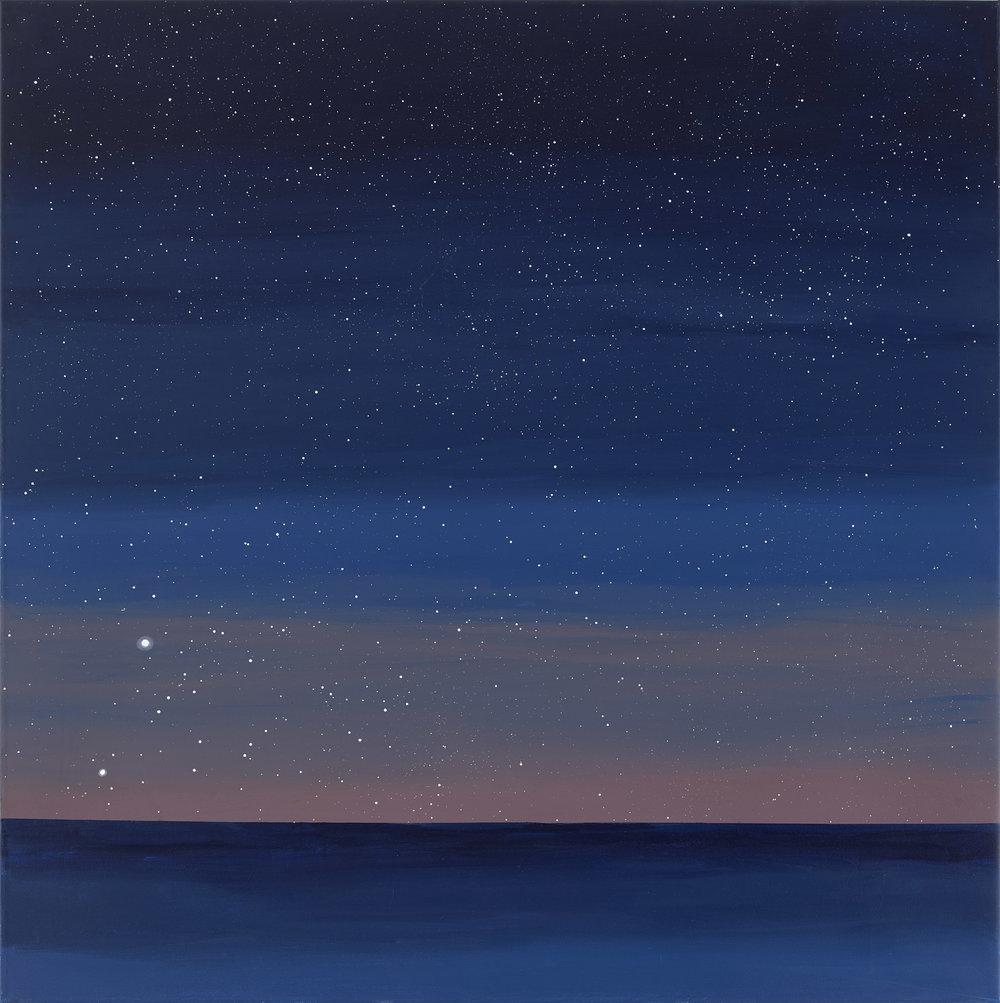 Acid Dawn 03:58,  2017 ,  acrylic on canvas,   110 x 110 cm (43.3 x 43.3 inches)