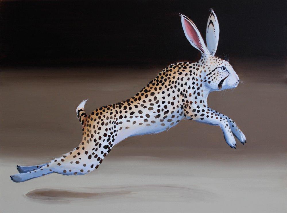 Hybrid VI (Cheetah) , 2017, Acrylic on canvas, 75x100 cm