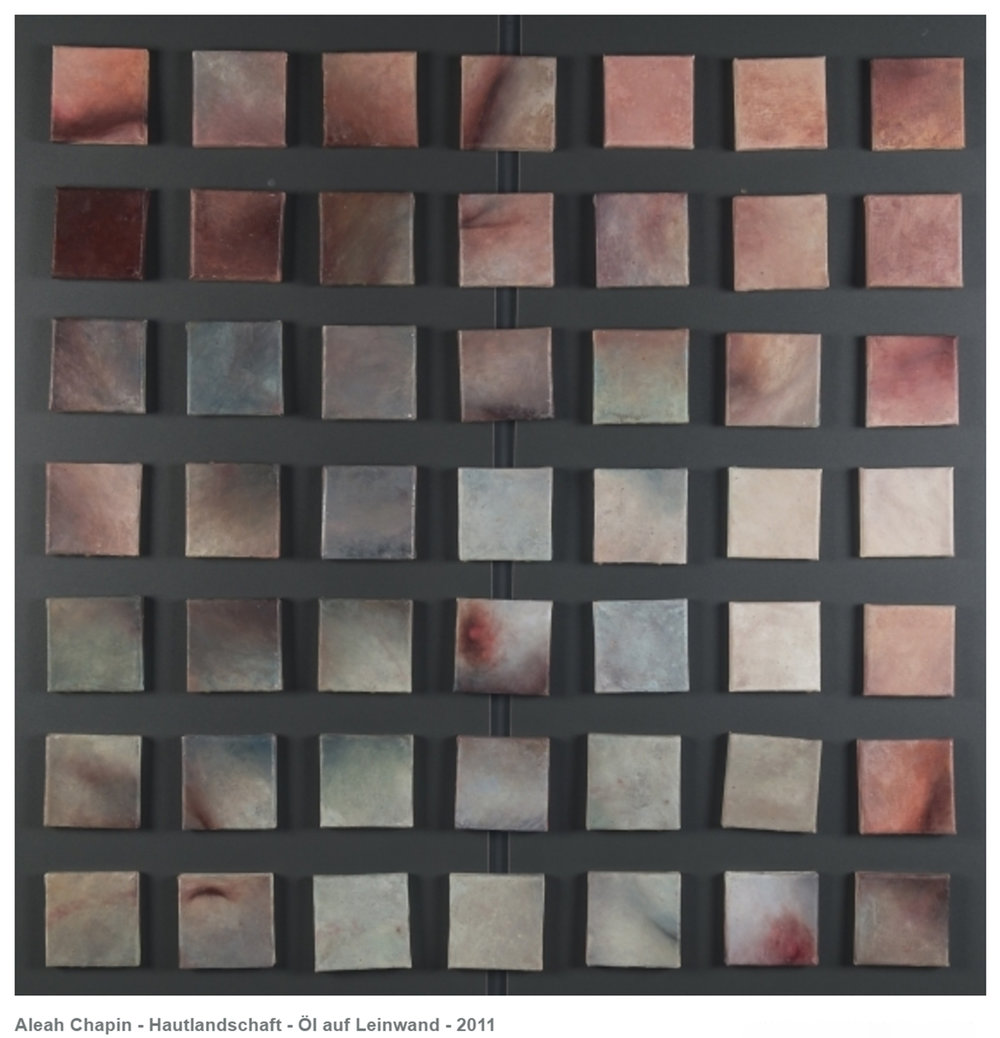 Aleah Chapin Hautlandschaft, (2011) Oil on canvas, Each 10x10cm.  Courtesy LIA - Leipzig International Art Program