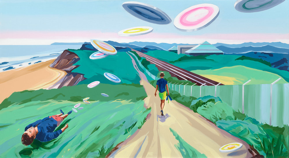 Christopher Winter, Flight, 2018, acrylic on canvas,110 x2 00 cm