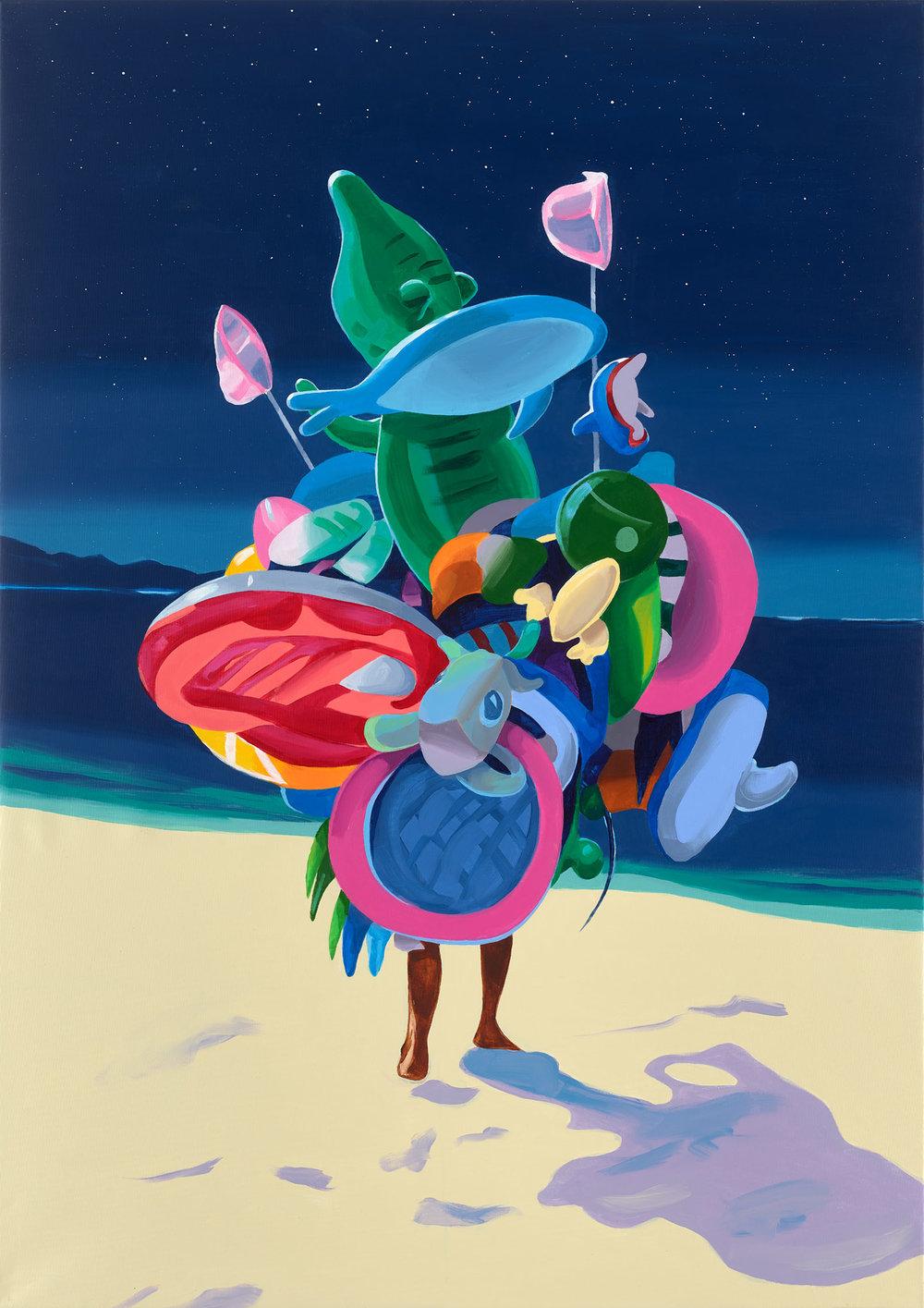 Christopher Winter The Landing, 2019 Acrylic on Canvas, 170 x 120 cm