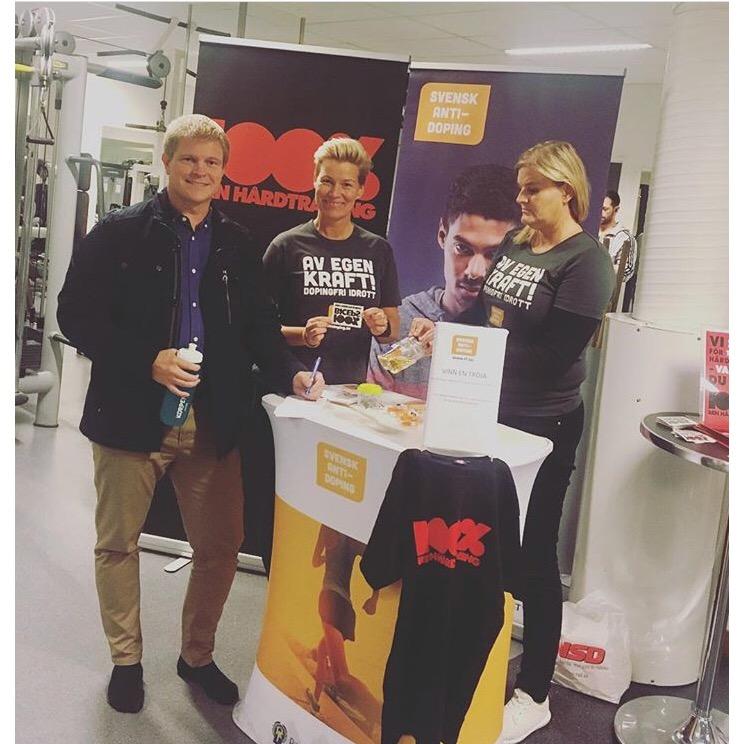 Norrbottens idrottsförbund besökte Korpen Piteå för att prata om vikten av förebyggande arbete mot dopning och för att sprida budskapet om svensk antidopning och 100% Ren Hårdträning