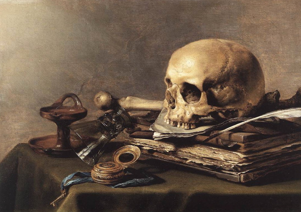Figure 2. Claesz P.  Vanitas Still-Life . 1630. Mauritshuis, The Hague.