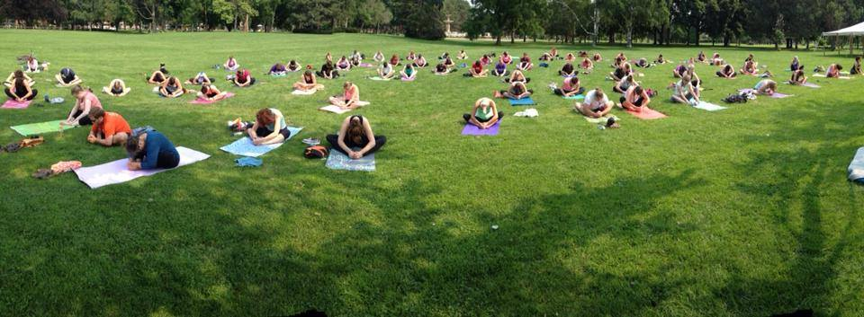 outdoor yoga in the park