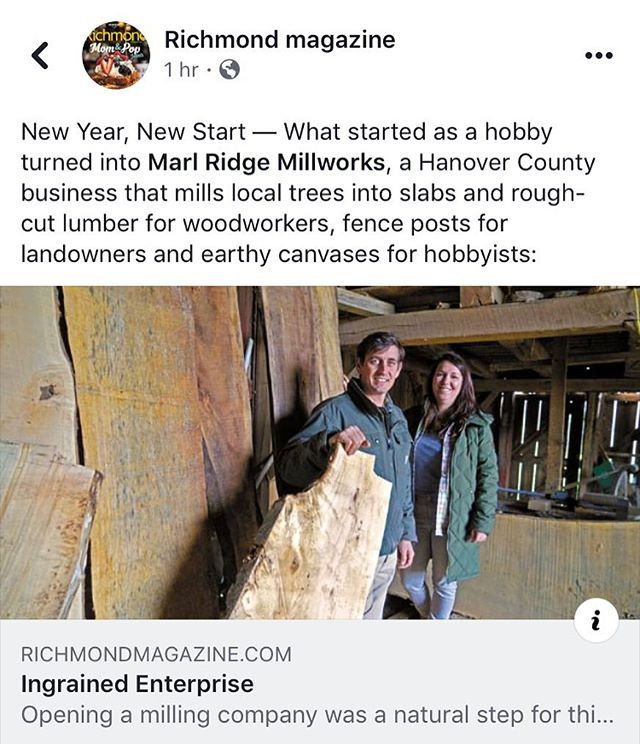 Excited to see the piece about our lil business online! To read the full article, visit our Facebook page or type this in your browser:  richmondmagazine.com/news/features/ingrained-enterprise/  Shoutout to @richmondmag @blueskyfund @brandywinewoodwork