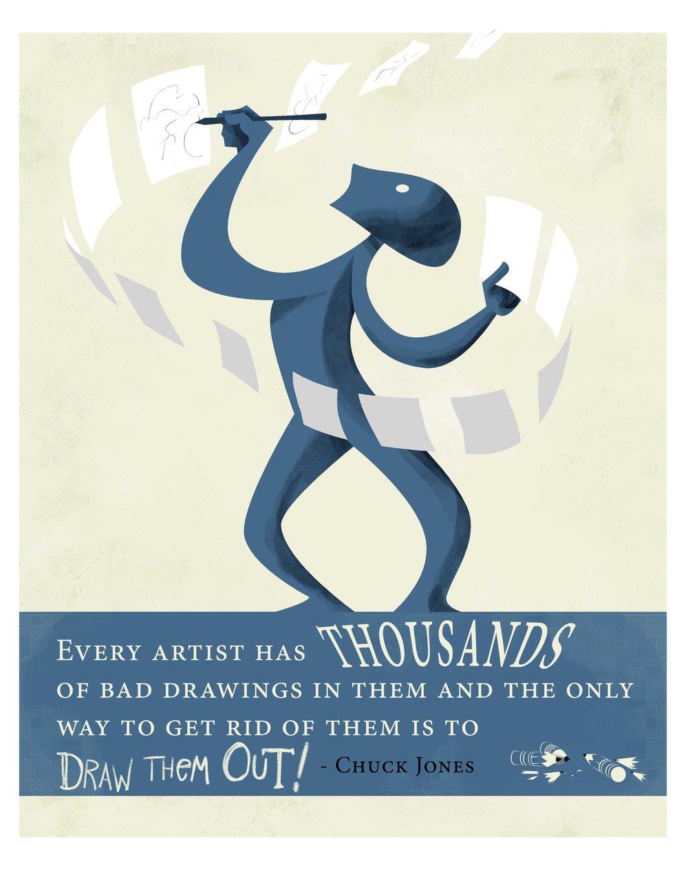 Quote Illustration - Chuck Jones