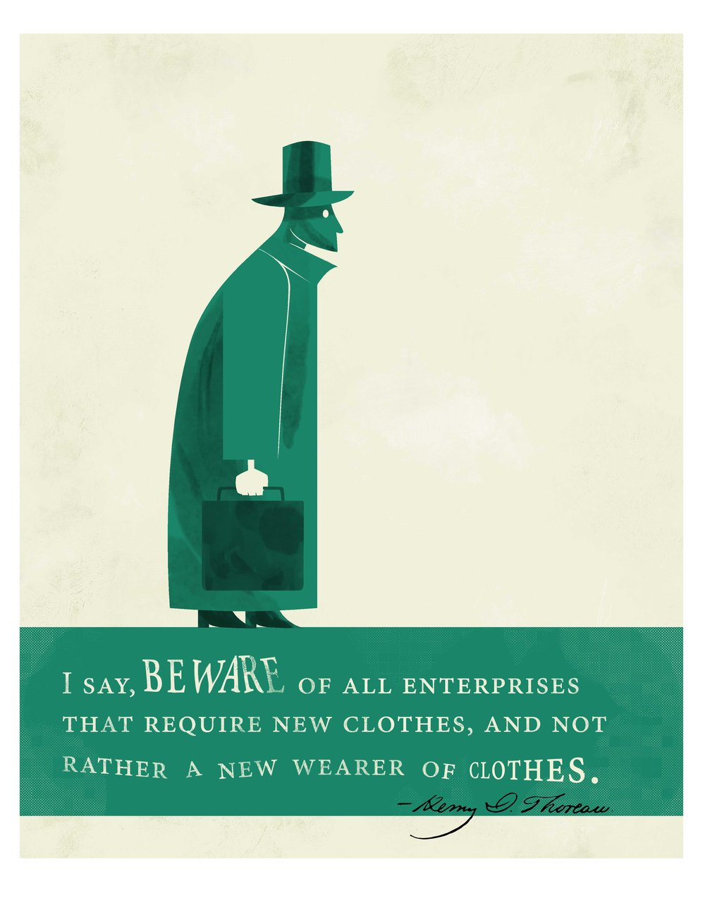 Quote Illustration - Henry David Thoreau