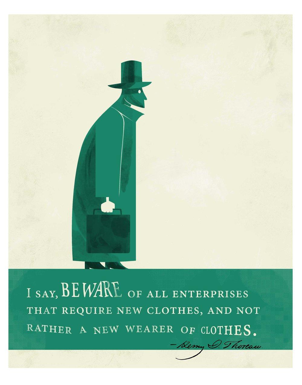 Quote Illustration - Henry David Thoreau