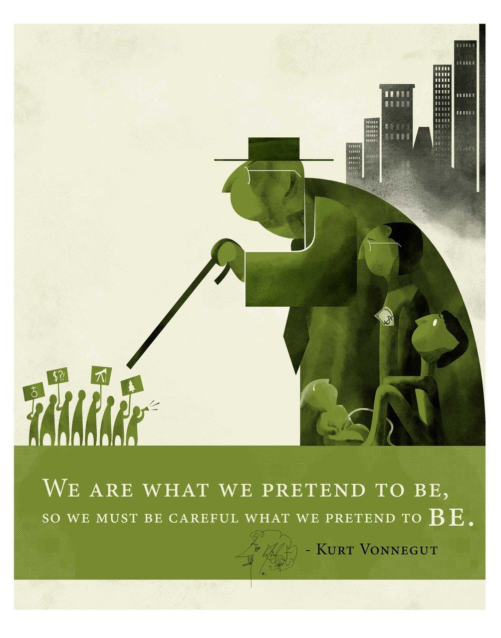 Quote Illustration - Kurt Vonnegut