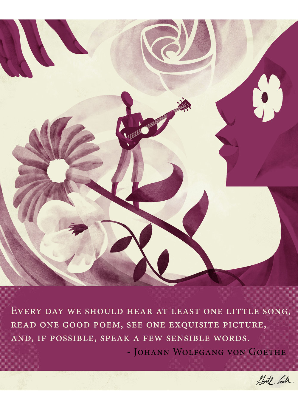 Quote Illustration - Goethe