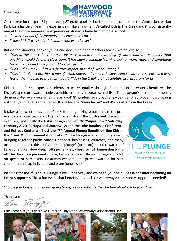 Microsoft Word - The Plunge 2019 Sponsorship, Donation, and Regi