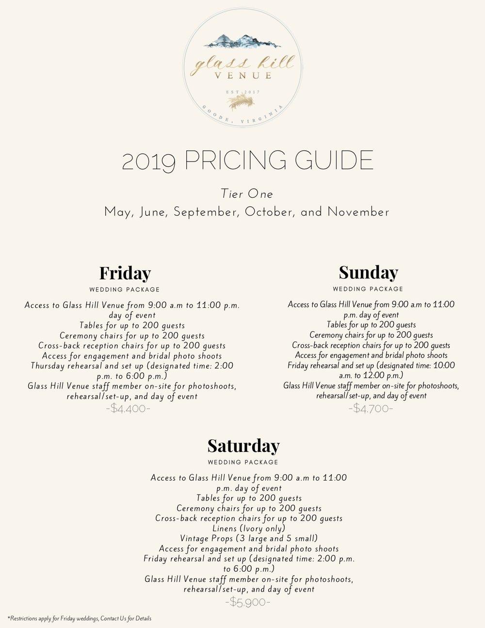 Glass Hill Venue 2019 Price Guide.jpg