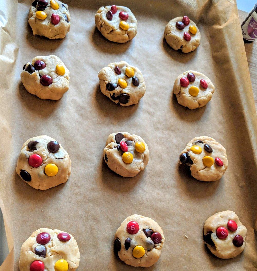 Pre-baked cookies