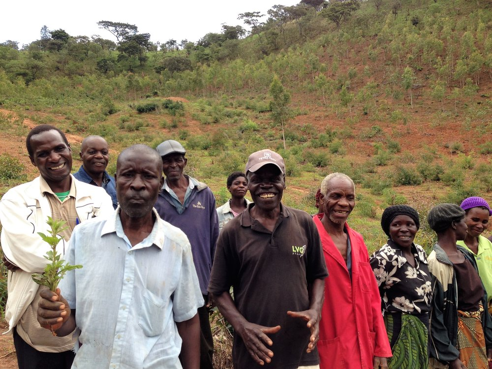 Some of the Lucheche Cooperative farmers
