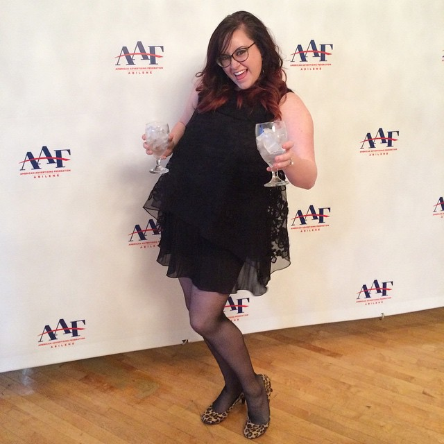 This was me in 2015 at the ADDY awards while working in Corporate as a Graphic Designer.