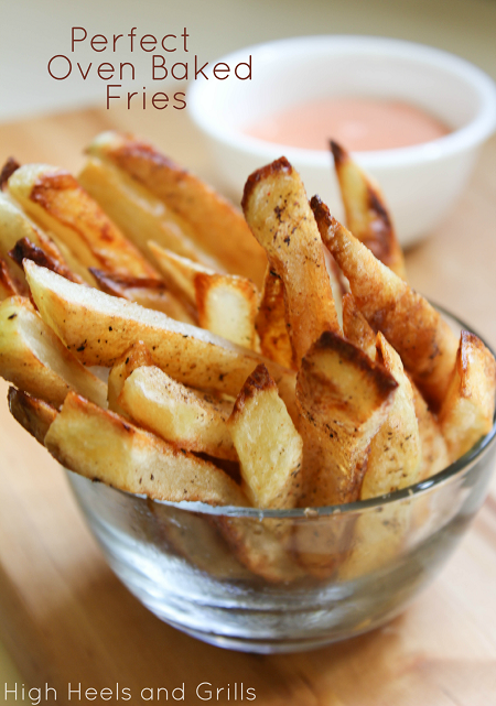 Perfect Oven Baked Fries  by High Heels & Grills