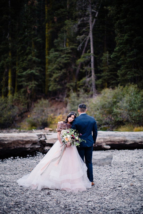 Soft, Moody Truckee River Wedding - Tahoe Wedding