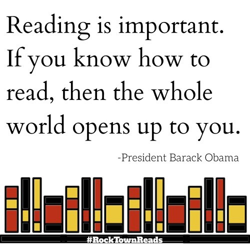 How about a little #MondayMotivation to read more from former President @barackobama? . . . . . . #rocktownreads #readmore #tagtheqc #rockisland #helloquadcities #booksaremagic