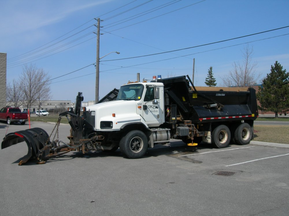 Snow and Ice Control Equipment - Snow Plows, Salters, Pusher Blades, Dump Boxes.
