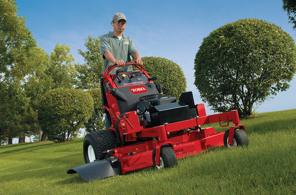 Landscape Maintenance Equipment - Commercial Mowers, Tractors, Spraying Equipment, Sod Cutters, Trimmers, Backpack Blowers and Walk-Behind Mowers.